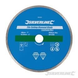 Diamantový řezný kotouč na dlaždice - 180 x 22.23mm Continuous Rim