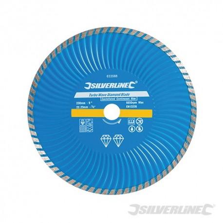 Tarcza diamentowa Turbo - 230 x 22,23 mm azurowa obrecz ciagla