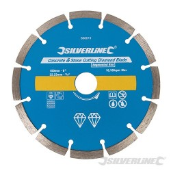 Concrete & Stone Cutting Diamond Blade - 150 x 22.23mm Segmented Rim
