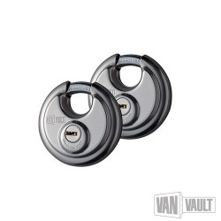 Stainless Steel Disc Padlock Twin Pack - 70mm
