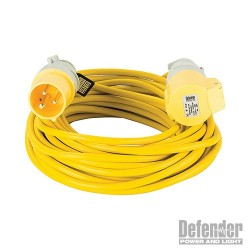 Extension Lead Yellow 2.5mm2 16A 14m - 110V