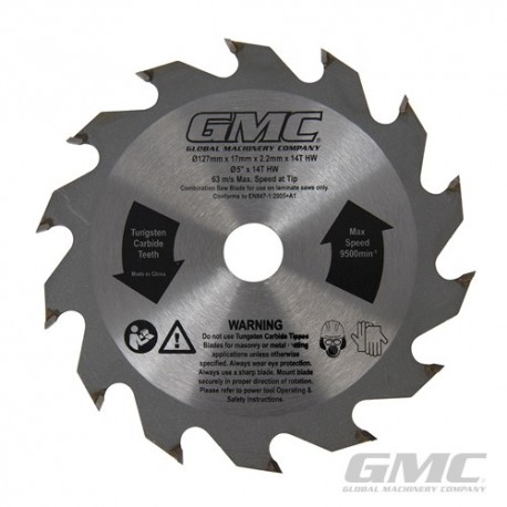 Laminate Flooring Saw Blade - Blade 127 x 17 x 2.2mm 14T