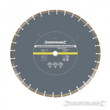 Tarcza diamentowa spawana laserowo do kamienia/betonu - 450 x 25,4 mm obrecz segmentowana