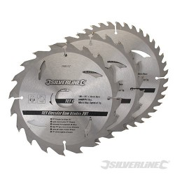 TCT Circular Saw Blades 20, 24, 40T 3pk - 180 x 30 - 20, 16mm rings