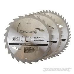 Karbidové řezné kotouče pro okružní pilu - 20, 24, 48 zubů, 3 kusy - 235 x 30 - 25, 16mm rings