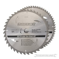 TCT Circular Saw Blades 40, 60T 2pk - 300 x 30 - 25, 20, 16mm rings