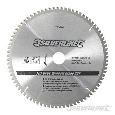 TCT UPVC Window Blade 80T - 250 x 30 - 25, 20, 16mm Rings