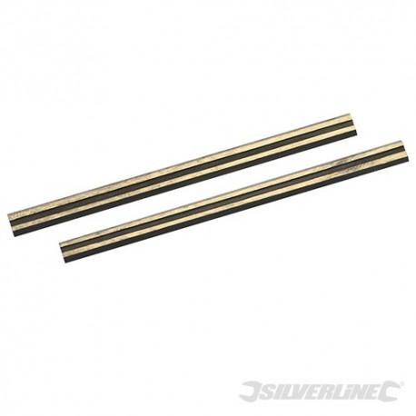 Silverline Nože pro hoblíky , wolfram-karbidové - 2 kusy - 80 x 5.5 x 1.1mm 273237 5055058105011