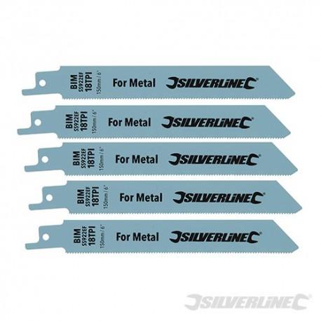 Brzeszczot do cecia metalu, 5 szt. - Bi-metal - 18 TPI - 150 mm