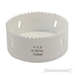 Pilová děrovka z bimetalu na nerez - 102mm