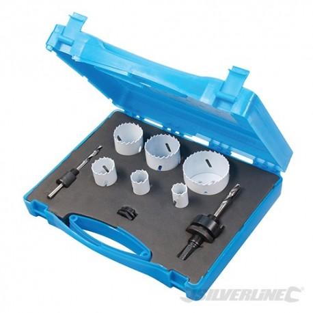 Plumbers Bi-Metal Holesaw Kit 9pce - 19 - 57mm Dia