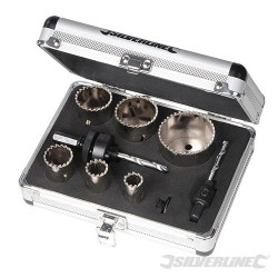 Komplet diamentowych otwornic 11 szt. - 19 - 57 mm