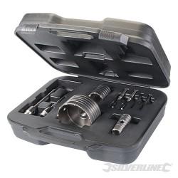 TCT Core Drill Kit 9pce - 30, 50 & 110mm