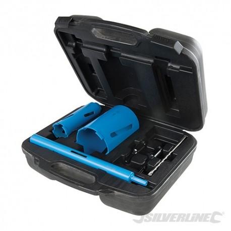 Diamond Core Drill Kit 3-Core 7pce - 28, 52 & 107mm