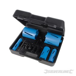 Diamond Core Drill Kit 5-Core 11pce - 38, 52, 65, 117 & 127mm Dia