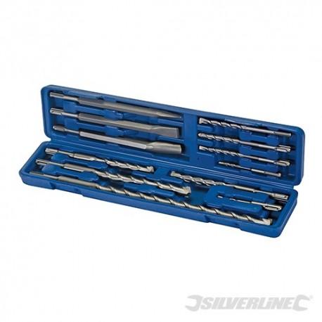 Zestaw wiertel i dlut udarowych SDS Plus 12 szt. - Zestaw 12 sztuk.