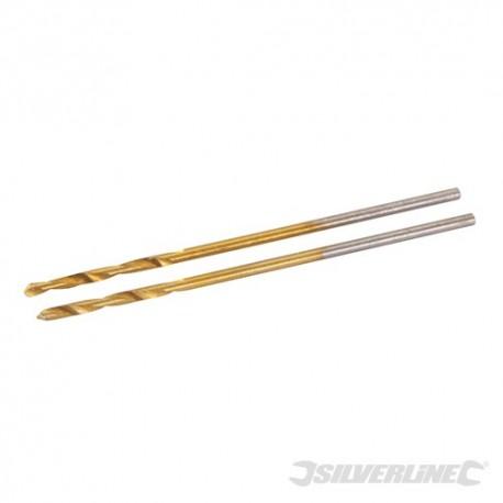 Titanium-Coated HSS Drill Bits 2pk - 1.0mm