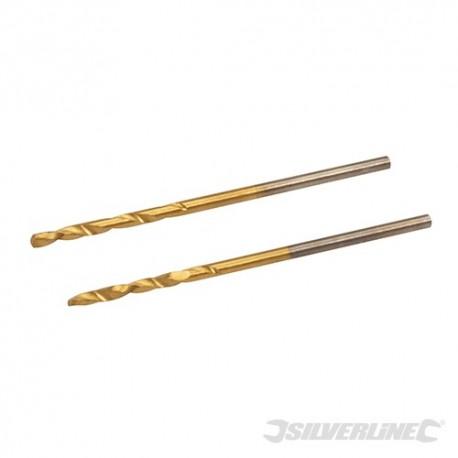 HSS Titanium-Coated Drill Bits 2pk - 1.5mm