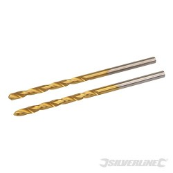 HSS Titanium-Coated Drill Bits 2pk - 2.5mm