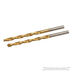 HSS Titanium-Coated Drill Bits 2pk - 3.0mm