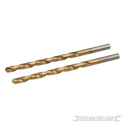 HSS Titanium-Coated Drill Bits 2pk - 3.5mm