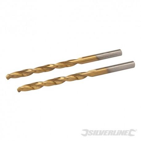 HSS Titanium-Coated Drill Bits 2pk - 4.5mm