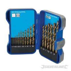 Titanium-Coated HSS Drill Bit Set 17pce - 1 - 9mm
