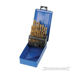 Titanium-Coated HSS Drill Bit Set 19pce - 19pce
