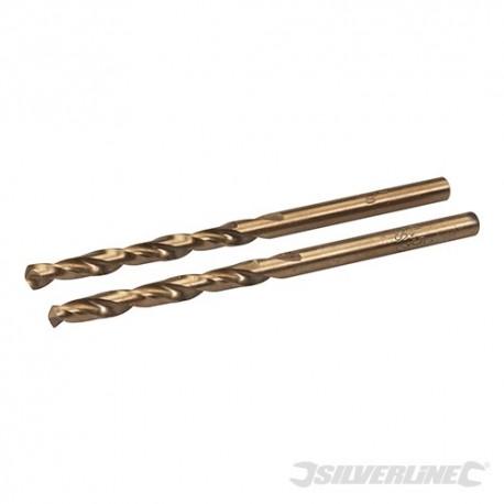 Cobalt Drill Bits 2pk - 4.5mm