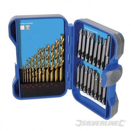 Titanium-Coated HSS Drill Bit & CRV Screwdriver Bit Set 29pce - 1 - 7mm