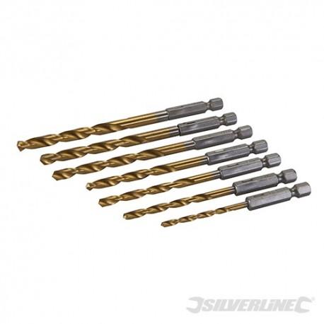 Hex Shank Drill Bit Set 7pce - 3 - 6.5mm