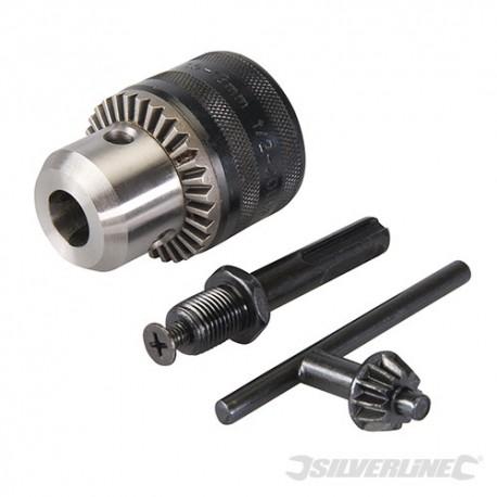 """Silverline Zubové sklíčidlo 13 mm s kličkou a SDS Plus adaptérem - 13mm - 1/2"""" 20UNF 292703 5060012961411"""