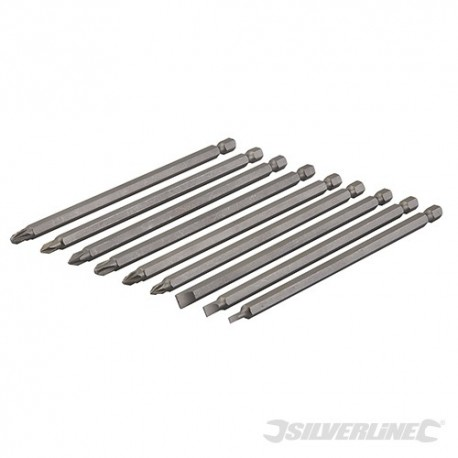 Extra-Long Power Bit Set 9pce - 150mm