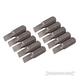 Plochý šroubovací bit, chrom-vanadiový 10 ks - Slotted 5mm