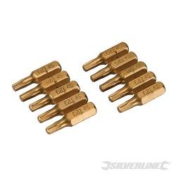 Hvězdicový šroubovací bit, zlatý - 10 kusů - T20