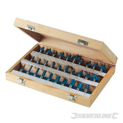 "1/2"" TCT Router Bit Set 30pce - 1/2"""