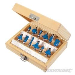Zestaw frezów TCT 8mm, 12 szt. - 8 mm