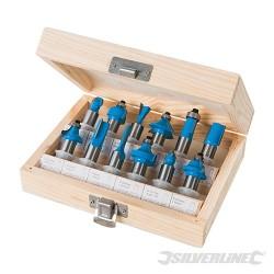 Zestaw frezów TCT 12 mm, 12 szt. - 12 mm