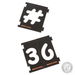 Sada číslic pro vrchní frézu 31 ks - 31pce