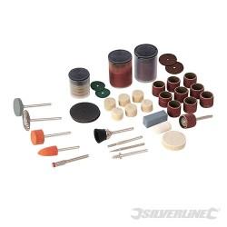 Zestaw akcesoriów do wielofunkcyjnego narzedzia obrotowego, 105 elem. - Trzpien 3,17 mm