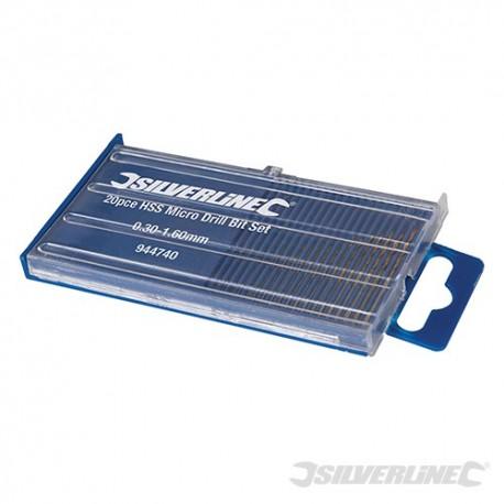 HSS Micro Drill Bit Set 20pce - 0.3 - 1.6mm