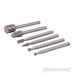 Zestaw frezów ze HSS do urzadzenia obrotowego, 6 szt. - Srednica 2, 3, 5, 7 mm
