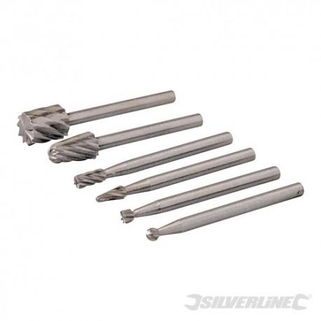 Rotary Tool HSS Burr Set 6pce - 2, 3, 5, 7mm Dia