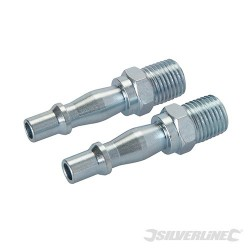 "Air Line Bayonet Male Thread Coupler 2pk - 1/4"" BSP"
