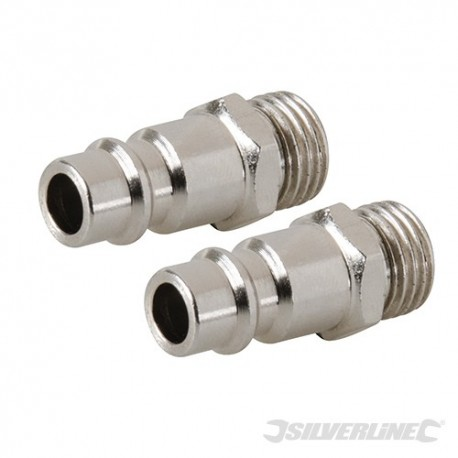 "Euro Bayonet Coupler 1/4"" BSP Male Thread 2pk - 1/4"" BSP"