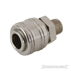 "Euro Air Line Male Thread Quick Coupler - 1/4"" BSP"