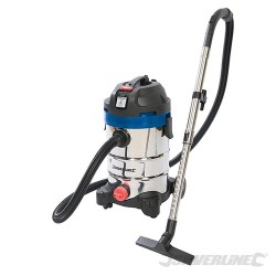1250W Wet & Dry Vacuum Cleaner 30Ltr - 1250W UK