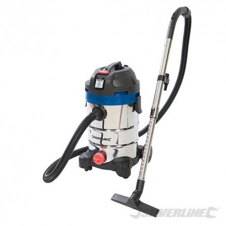Silverline 1250W Wet & Dry Vacuum Cleaner 30Ltr - 1250W 974451 5024763129834