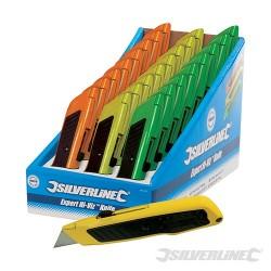 Expertní nůž reflexní barvy - prodejní box, 24 kusů - 24pce