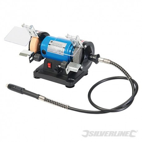 "Mini Bench Grinder with Flexible Shaft - 3"" / 75mm"